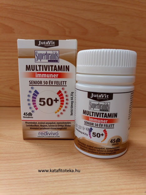JUTAVIT MULTIVITAMIN SENIOR 50+,  45 DB